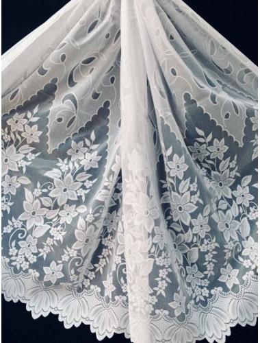 Тюль 1.5 м Мурат белый 6105 в интернет-магазине ashtori.com.ua | ☎ (067) 102-44-77