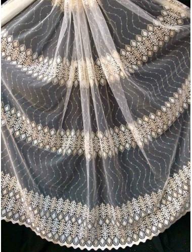 Тюль Papatia 81008 крем-золото в интернет-магазине ashtori.com.ua | ☎ (067) 102-44-77