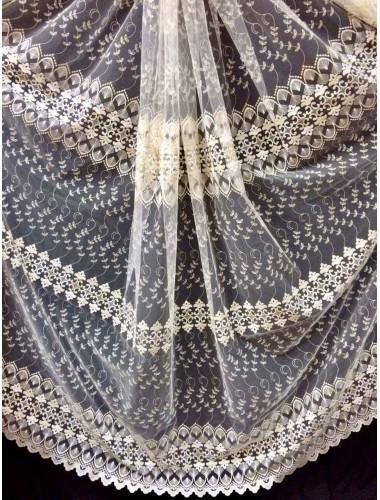 Тюль Papatia 81089 крем-золото в интернет-магазине ashtori.com.ua | ☎ (067) 102-44-77