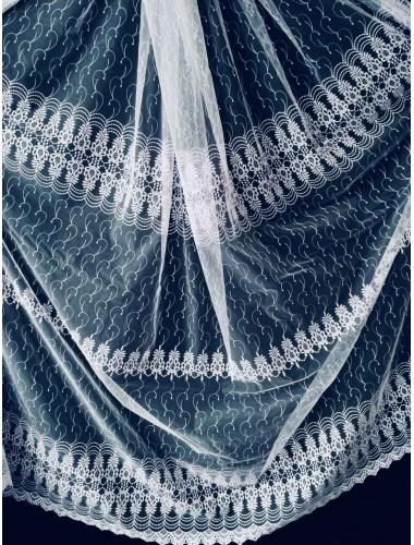 Тюль Papatia 81101 белый в интернет-магазине ashtori.com.ua | ☎ (067) 102-44-77