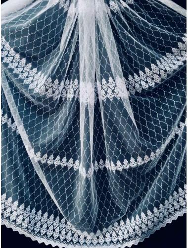 Тюль Papatia 81110 белый в интернет-магазине ashtori.com.ua | ☎ (067) 102-44-77