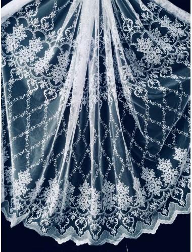 Тюль Тюль волга 24056 белый в интернет-магазине ashtori.com.ua | ☎ (067) 102-44-77