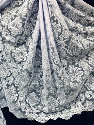 Тюль Тюль лила жаккард белая ( 37733) 2.85м ф в интернет-магазине ashtori.com.ua | ☎ (067) 102-44-77