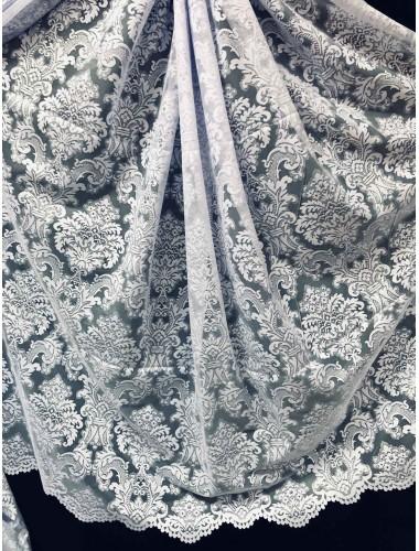 Тюль Тюль лила жаккард белая ( 37733) 2.85м ф в интернет-магазине ashtori.com.ua   ☎ (067) 102-44-77