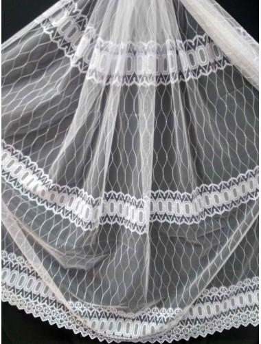 Тюль Тюль Papatia 81035 белый в интернет-магазине ashtori.com.ua   ☎ (067) 102-44-77